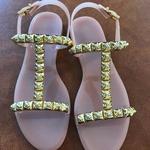 Stuart Weitzman Womens Jelly Sandals,Size:5